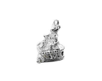 Sterling Silver Opening Teddy Bear's Picnic Charm For Bracelets