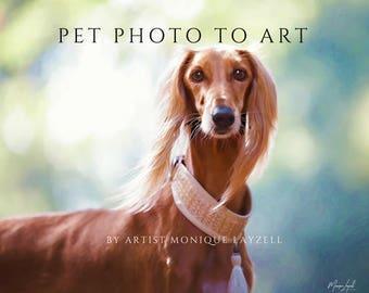 Pet Photo To Art Digital Painting