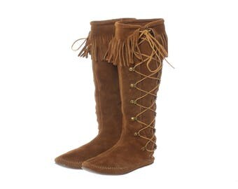 Moccasin Boots Etsy