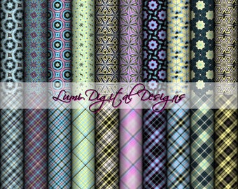 Collection 057 -  20 Digital Papers Pack