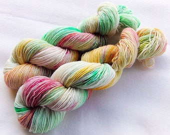 Handdyed SockYarn, 75 Wool, 25 Nylon 100g 3.5 oz. Nr. 150