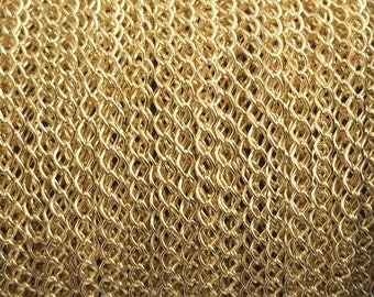 5FT (1.5mt) Gold Filled Chain, Curb chain link 2.1 mm , gold fill Curb chain, gold Cable curb chain sold by foot by meter for jewelry making