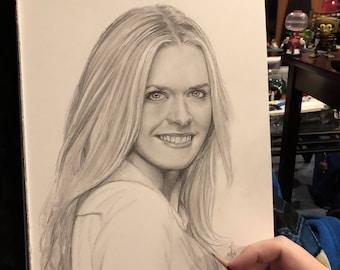 Original Sketch of Maggie Lawson (NOT a print)