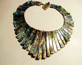 Elegant Abalone  Collar Necklace