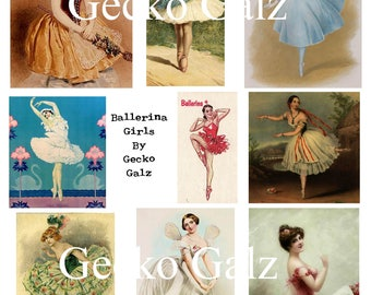 Ballerina Girls Digital Collage Sheet