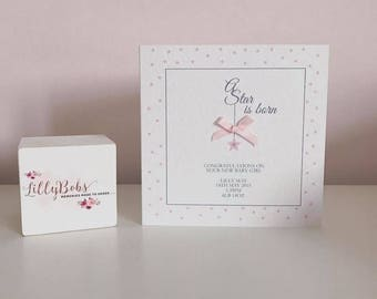 Personalised New Baby Card - Baby Girl, Baby Boy