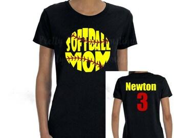 custom softball softball mom tshirt softball mom shirt mom softball shirt softball tshirt softball tee womens softball