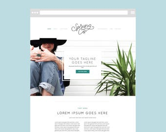 Squarespace DIY WEBSITE TEMPLATE with Graphics: The Clean Freak Template