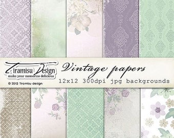 ON SALE Scrapbook Papers and Digital Paper Pack 25