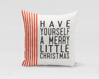 Merry Christmas - Christmas Throw Pillow, Frank Sinatra, Christmas Carol, Christmas Decor, Decorative Cushion, Christmas Quote, Farmhouse