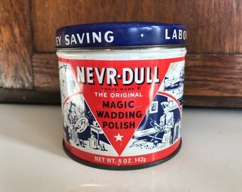 Vintage Never-Dull Tin dated 1941
