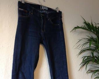 Tommy Hilfiger Low Rise Skinny Slim Jeans Dark Indigo Denim