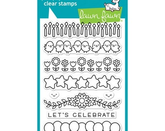Lawn Fawn Clear Stamps - Simply Celebrate