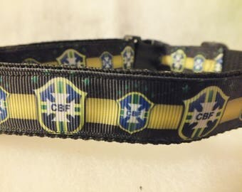 """Brazil National Team pet collar - fits 12.5"""" to 20"""""""