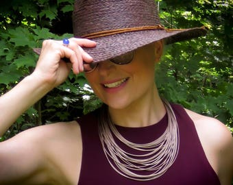 Necklace Ogawa: 29 rows, dusty gold, stainless steel,hypoallergenic