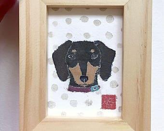 Original Dachshund Art, Weiner Dog Gifts, Dachshund Decor