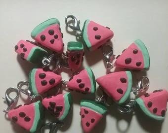 Polymerclay clay charm, Watermelon charm