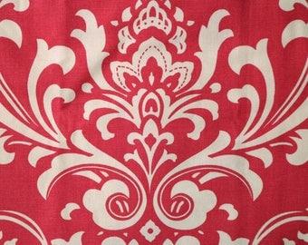 PRE-Order, Pink Damask, Knitting Bag, Crochet, Knit, Yarn, Wool, Yarn Storage, Yarn Bag with Hole, Grommet, Handle