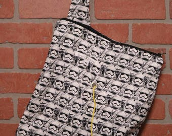 Medium Knitting Bag, Crochet, Knit, Yarn, Wool, Star Wars, Yarn Storage, Yarn Bag with Hole, Grommet, Handle, MYB11