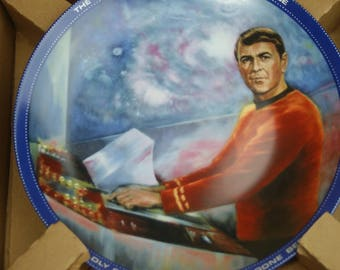 Hamilton Limited Edition Star Trek Collector's Plate In Original Box - Scotty