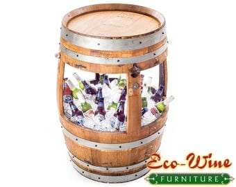 59 gallons wine barrel with 30 gallons ice cooler.