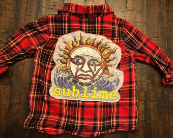 Toddler boy or girl Sublime flannel shirt size 2T 3T