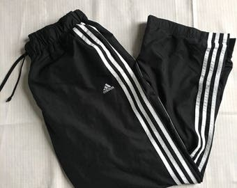 Adidas windbreakers black and white.