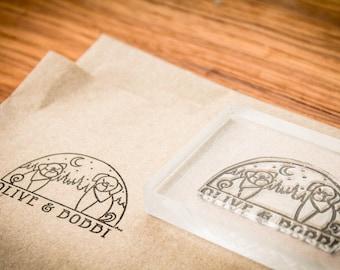 Custom Fabric Stamp - 2 x 3 inches