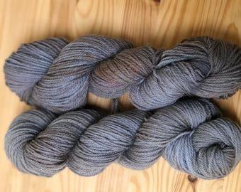 Grey dyed-dyed Grey-hand dyed yarn-Grey Yarn- Fingering Weight yarn-Hand Dyed Sock-Sock Yarn Dyed-Grey Sock-Variegated Yarn-Variegated sock