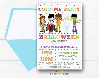 HALLOWEEN INVITATION, COSTUME Invitation, Halloween Party, Halloween Costume Birthday, Halloween Costume Invitation, Halloween Printable