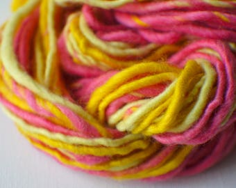SALE: Bulky handspun yarn, Thick and Thin Yarn, Art Yarn, knitting supplies crochet supplies