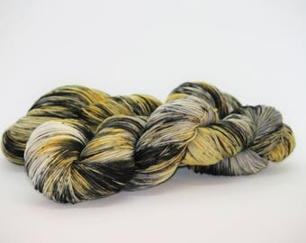"Hand Dyed Superwash Merino Wool/Nylon in ""Grellow A"". Hand Dyed Yarn. Wool Yarn. Sock Yarn."