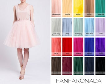 adult tutu skirt, adult tulle skirt, Handmade tulle skirt, High quality skirt, petticoat, knee length skirt, bridesmaid skirt