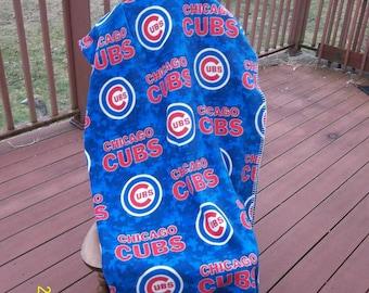Chicago Cubs Fleece Throw - Mottled Blue