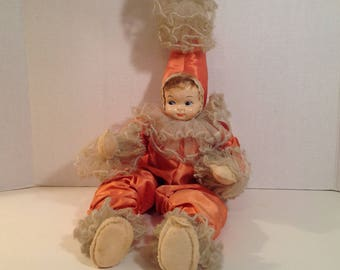 """Pixie Doll--Vintage 22"""" Pixie Doll with Poseable Body and Celluloid Face 1950's"""