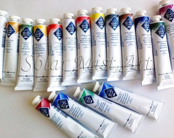 Oil Paint CUSTOM 46 ml tubes Set Master class Artists St Petersburg Russian Nevskaya palitra Professional oil colours