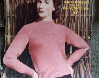 Vintage knitting pattern ladies sweater