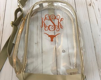 Clear Backpack personalized any way you want!