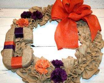 Indoor Wreath | Indoor Burlap Wreath | Custom Wreath | Collegiate Wreath | Monogram Wreath