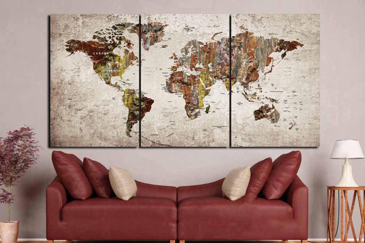 World map wall artworld map canvaslarge world map printlarge world map wall artworld map canvaslarge world map printlarge world maplarge travel mappush pin world mapworld map push pinmap art gumiabroncs Choice Image