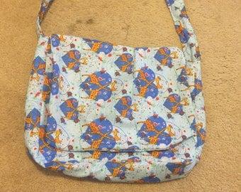 Blue Giraffe Messenger Bag