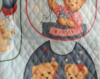 Fabric Supplies, Material for Sewing, Teddy Bear Panel, Bibs for Babies, Supplies for Make Your Own, Babies Bibs, Bibs for Boys or Girls
