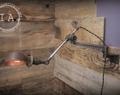 Vintage Industrial OC White Articulating Resonator Arm Wall Sconce Lamp