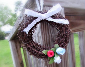 4th of July Wreath, Patriotic Wreath, Red White and Blue Wreath, 4th of July Gift, Patriotic Gift, 4th of July Decor, Patriotic Decoration