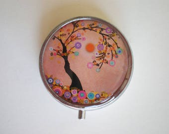 Pill box, Pill case, Pill container, Jewelry box, Mint case, Pills, Tree of life, Tree pill box