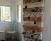 Vintage throw quilt, Tim Holtz eclectic elements, handmade quilt, Mother's Day gift, made in Canada, #163