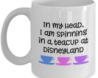 Disney Spinning Teacup Mug Gift Teacups Love Disneyland Fan Coffee Cup