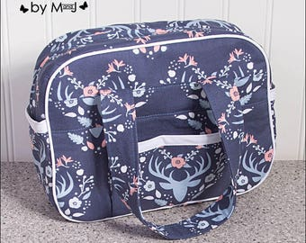 Doll diaper bag, diaper bag set, purse, bible holder, handbag, deer antler camelot meadow