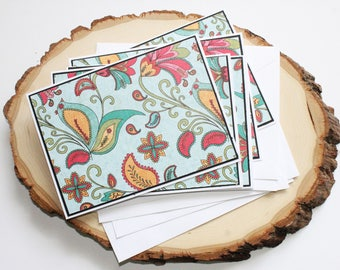 Floral Greeting Card Set - Thank You Card Set - Hello Card Set - Blank Card Set of 6