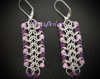 Chain Maille Earrings-Chainmaille Earrings